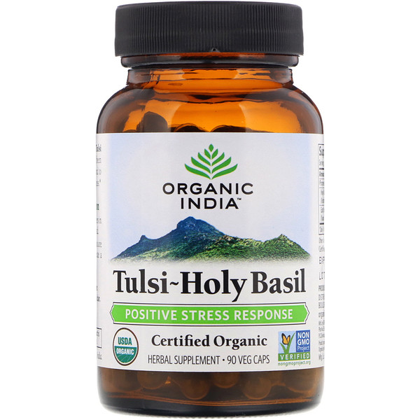 Organic India, Tulsi-Holy Basil, Positive Stress Response, 90 Veg Caps