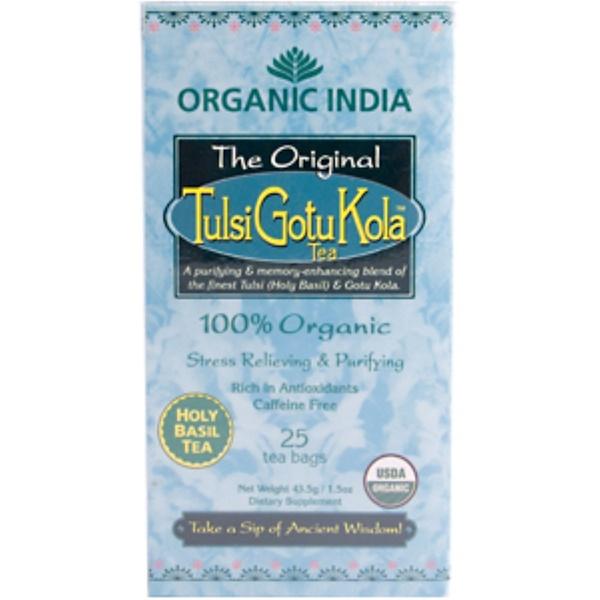 Organic India, The Original Tulsi Gotu Kola Tea, 25 Tea Bags (Discontinued Item)