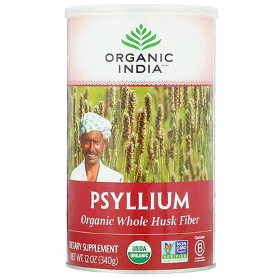 Купить Psyllium, Organic Whole Husk Fiber, 12 oz (340 g)