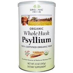 Organic India, Psyllium, Whole Husk, 12 oz (340 g)