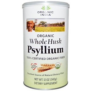 Organic India, Psyllium, Whole Husk, 12 oz (340 g)