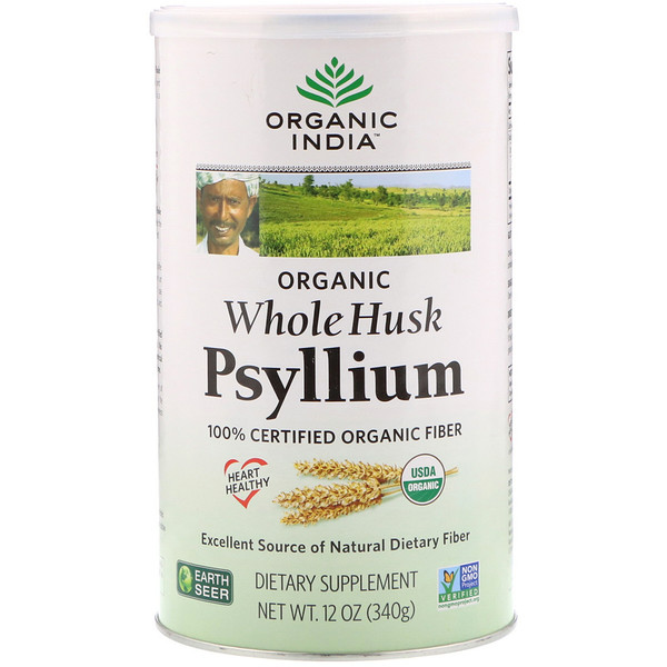 Organic India, Psyllium, Casca Integral, 12 oz (340 g)