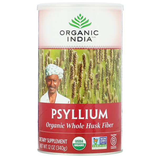 Psyllium, Organic Whole Husk Fiber, 12 oz (340 g)