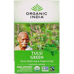 Organic India, 圖爾西綠茶,18 個泡制袋,1.21 盎司(34.2 克)