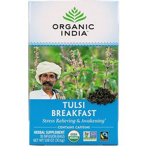 Органик Индиа, Tulsi Tea, Breakfast, 18 Infusion Bags, 1.08 oz (30.6 g) отзывы покупателей