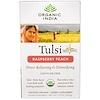 Organic India, Tulsi Holy Basil, Raspberry Peach, Caffeine Free, 18 Infusion Bags, 1.21 oz (34.2 g)