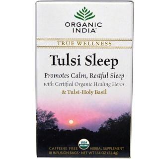 Organic India, شاي زهرة الريحان للنوم، خال من الكافيين، 18 كيس ضخ، 1.14 أوقية (32.4 جرام)