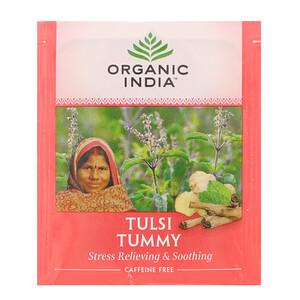 Органик Индиа, Tulsi Tea, Tummy, Caffeine-Free, 18 Infusion Bags, 1.14 oz (32.4 g) отзывы