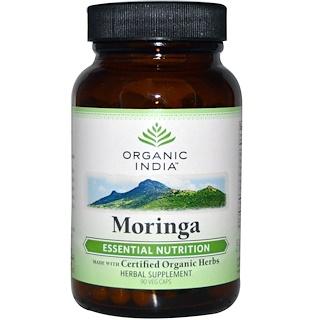 Organic India, モリンガ、90野菜カプセル