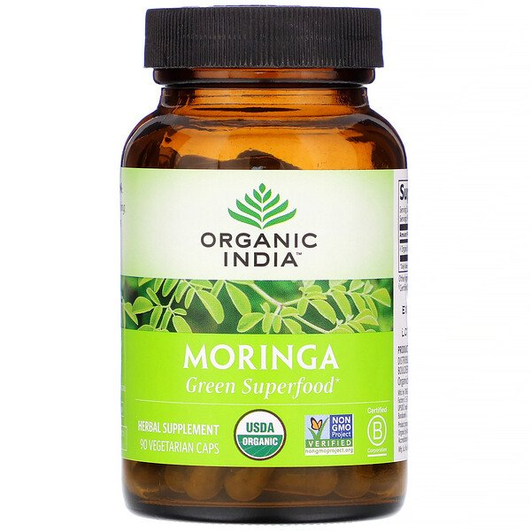 Organic India, Moringa, 90 Vegetarian Caps