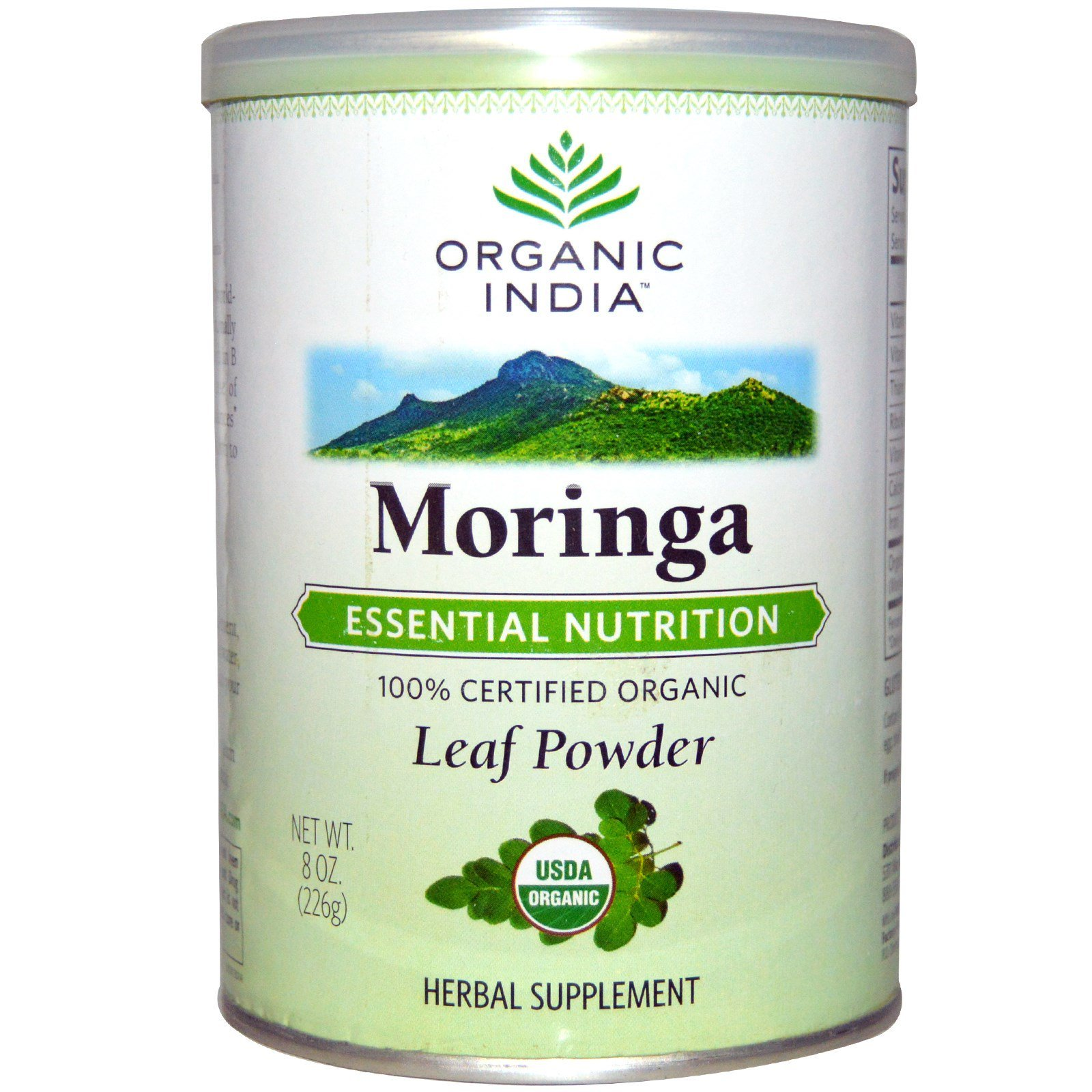 Organic India, Порошок листьев моринги, 8 унций (226 г)