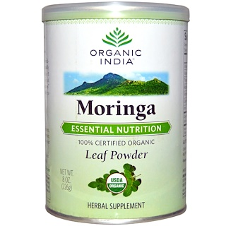 Organic India, モリンガ リーフパウダー, 8 オンス (226 g)