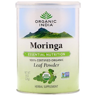 Organic India, Organic Moringa Leaf Powder, 8 oz (226 g)