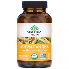 Organic India, 南非醉茄,180 粒素食膠囊