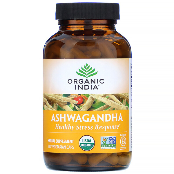 Organic India, アシュワガンダ、ベジカプセル180粒