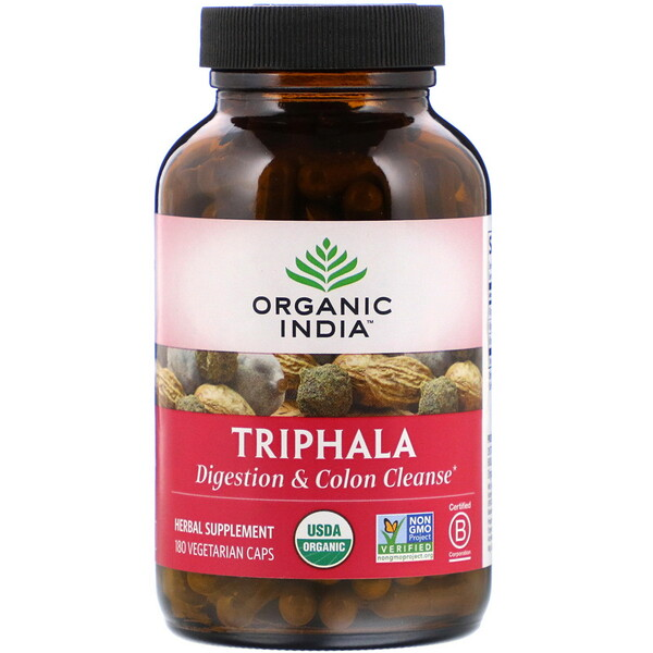 Organic India, Triphala, 180 Vegetarian Caps