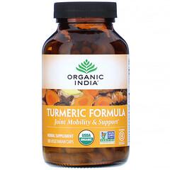 Organic India, 薑黃配方,關節活動度和支撐力,180 粒素膠囊