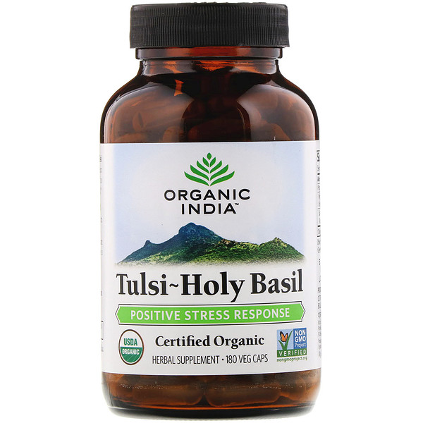 Organic India, Tulsi-Holy Basil, 180 Veg Caps