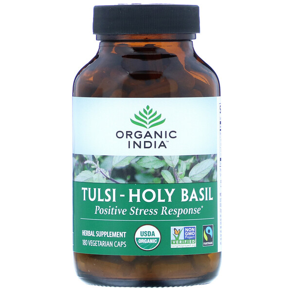 Organic India, Tulsi-Holy Basil, 180 Vegetarian Caps