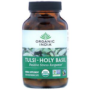 Органик Индиа, Tulsi-Holy Basil, 180 Vegetarian Caps отзывы покупателей
