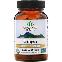 Organic India, Ginger, 90 Veg Caps