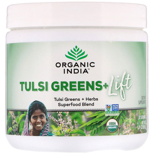 Tulsi Greens+ Lift, Superfood Blend, 5.29 oz (150 g)