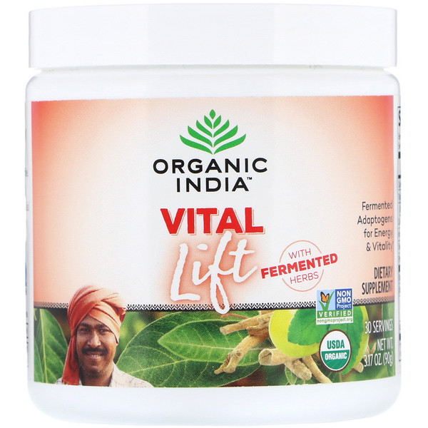 Organic India, Vital Lift, Fermented Adaptogens, 3.17 oz (90 g)