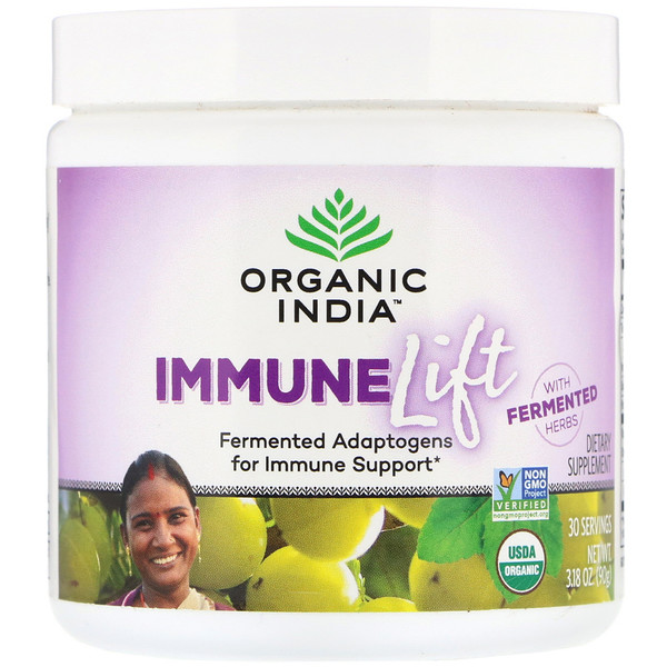 Organic India, Immune Lift, Fermented Adaptogens, 3.18 oz (90 g)