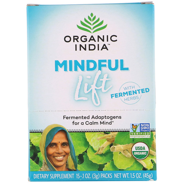 Mindful Lift, Fermented Adaptogens, 15 Packs, 0.1 oz (3 g) Each