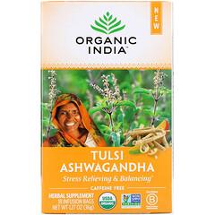 Organic India, Tulsi Tea, Ashwagandha, Caffeine-Free, 18 Infusion Bags, 1.27 oz (36 g)