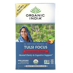 Organic India, 圖爾西專注,石榴橙,18 茶袋,1.31 盎司(37.26 克)
