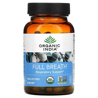 Organic India, Full Breath, Respiratory Support, 90 Veg Caps
