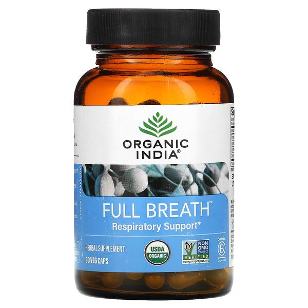 Full Breath, Respiratory Support, 90 Veggie Caps