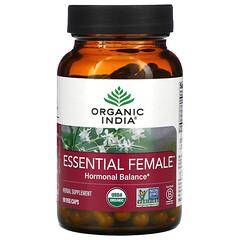 Organic India, Essential Female,荷爾蒙平衡,90 粒素食膠囊