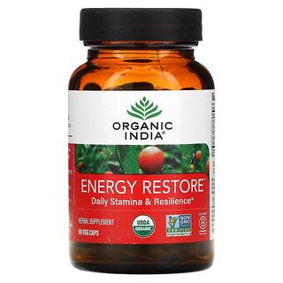 Organic India, Energy Restore, Daily Stamina & Resilience, 90 Veg Caps