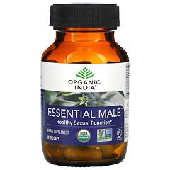 Organic India, Essential Male,健康性能力,60 粒素食膠囊