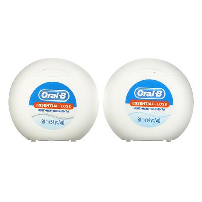 Купить Oral-B Essential Floss Value Pack, Mint, 2 Pack, 54.6 yd (50 m) Each