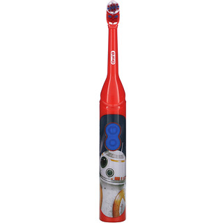 Oral-B, детская щетка на батарейках, мягкая, «Звездные войны», 1зубная щетка