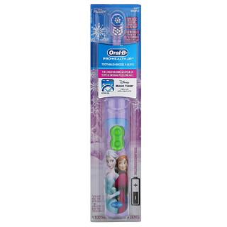 Oral-B, Frozen, Pro Health Jr., зубная щетка на батарейках для детей, мягкая, от 3лет, 1шт.