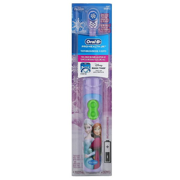 Kids, Frozen, Pro Health Jr., Battery Toothbrush, Soft, 3+ Years, 1 Toothbrush