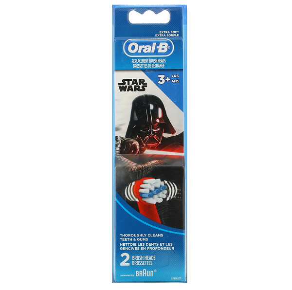 Kids, Star Wars, Replacement Brush Heads, Extra Soft, 3+ Years, 2 Brush Heads