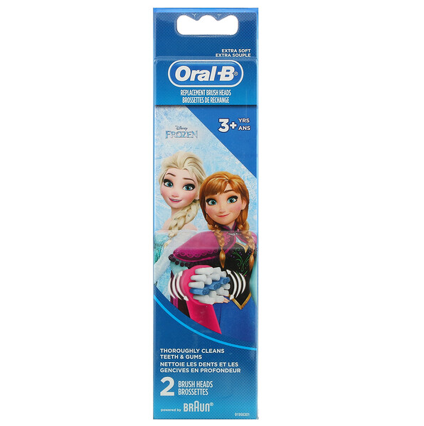 Kids, Frozen, Replacement Brush Heads, Extra Soft, 3+ Years, 2 Brush Heads
