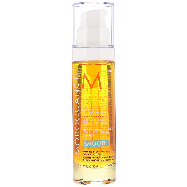 Moroccanoil, Blow-Dry Concentrate, Smooth, 1.7 fl oz (50 ml) (Discontinued Item)