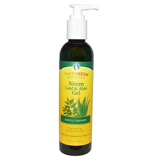Organix South, TheraNeem Naturals, Gentle Therapé, Neem Leaf & Aloe Gel, Fragrance Free, 8 fl oz (240 ml)