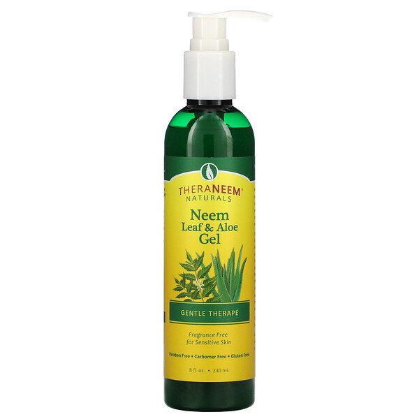 Organix South, TheraNeem, Neem Leaf & Aloe Gel, Fragrance Free, 8 fl oz (240 ml)