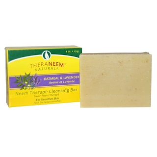 Organix South, TheraNeem Naturals, Neem Therapé, Cleansing Bar, Oatmeal & Lavender, 4 oz (113 g)