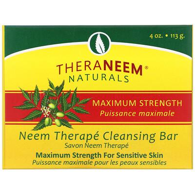 цены TheraNeem Organix, Neem Therapy Cleansing Bar, Maximum Strength, 4 oz (113 g)