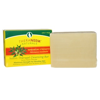 Organix South, TheraNeem Naturals, Neem Therapé, Cleansing Bar, Maximum Strength, 4 oz (113 g)