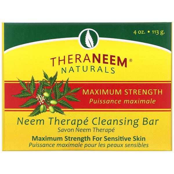 TheraNeem Organix, Barra de Limpieza de Neem, Máxima Potencia, 4 oz (113 g)