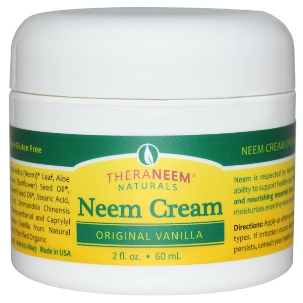 Organix South, TheraNeem Naturals, Neem Cream, Original Vanilla, 2 fl oz (60 ml) (Discontinued Item)